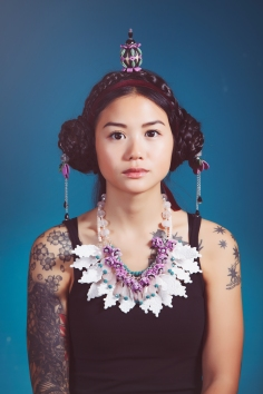 Jewelry by Sara Amrhein, hair by Anna Rose, photography by Dorin Vasilescu. Models Tiffany Huan. 2014