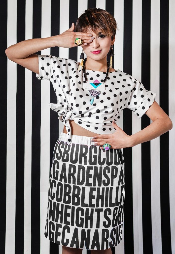 Kristhel Jimenez in Sara Amrhein Jewelry and Suite Fashion