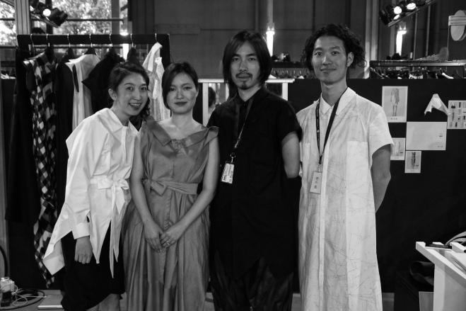 2015 Pitti Super Milano tradeshow team left Oka HuiYun Lin - sarta2015 Chisato Shibata - Yojiro - intern2015 Ryota Sakai