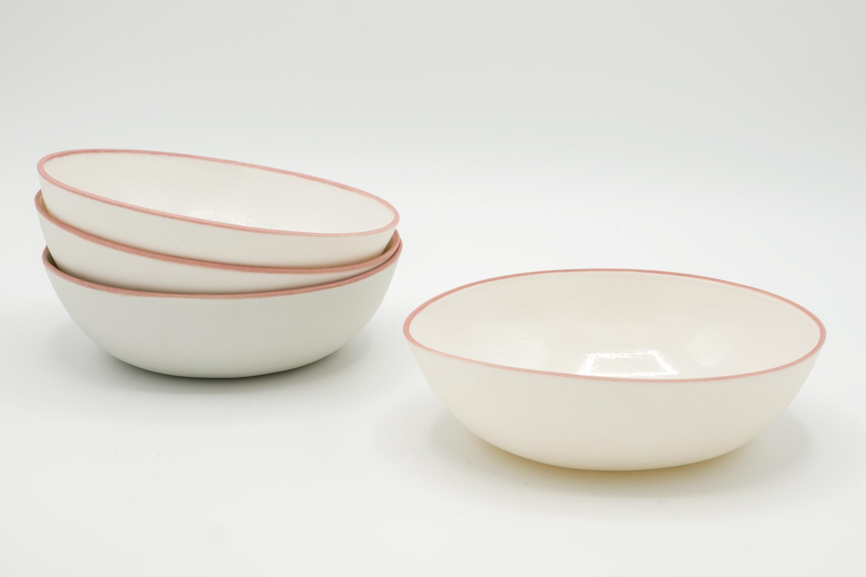 JHA Porcelain Eggshell desert bowl