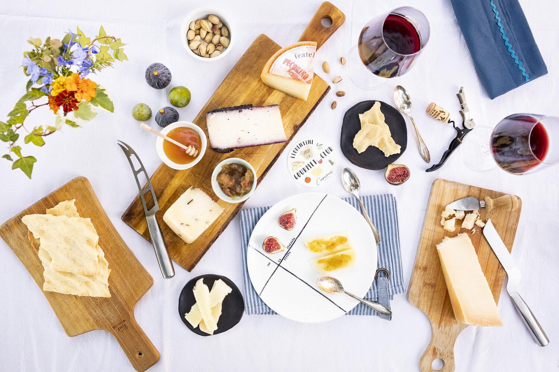 Italian food cheese aperitivo